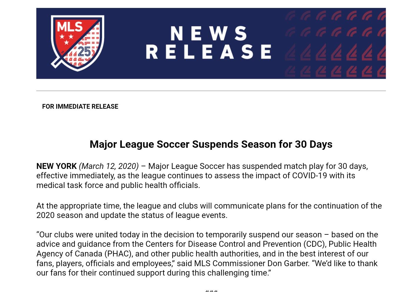 MLS Statement