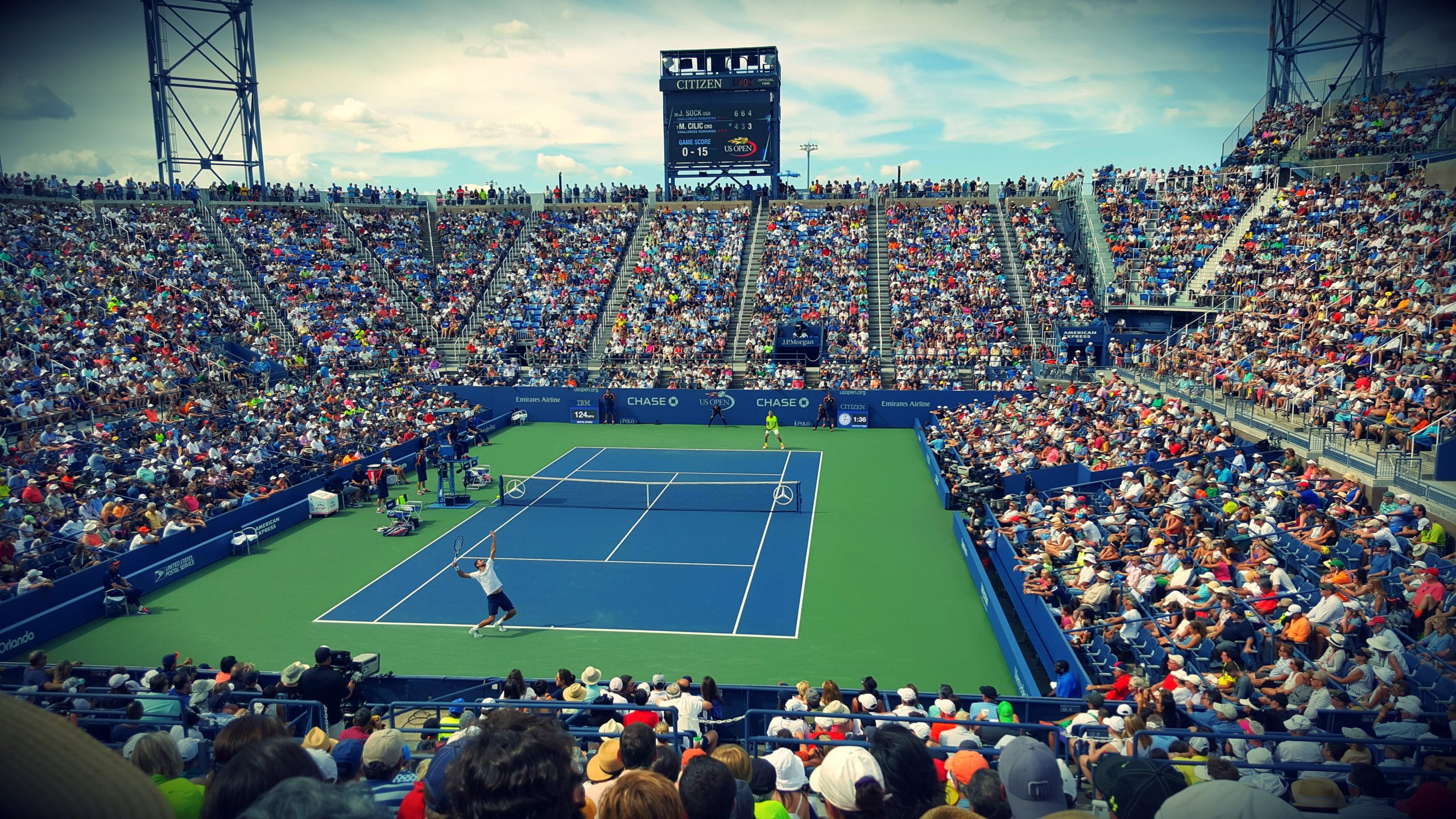 people-sitting-on-bench-watching-tennis-event-on-field-171568