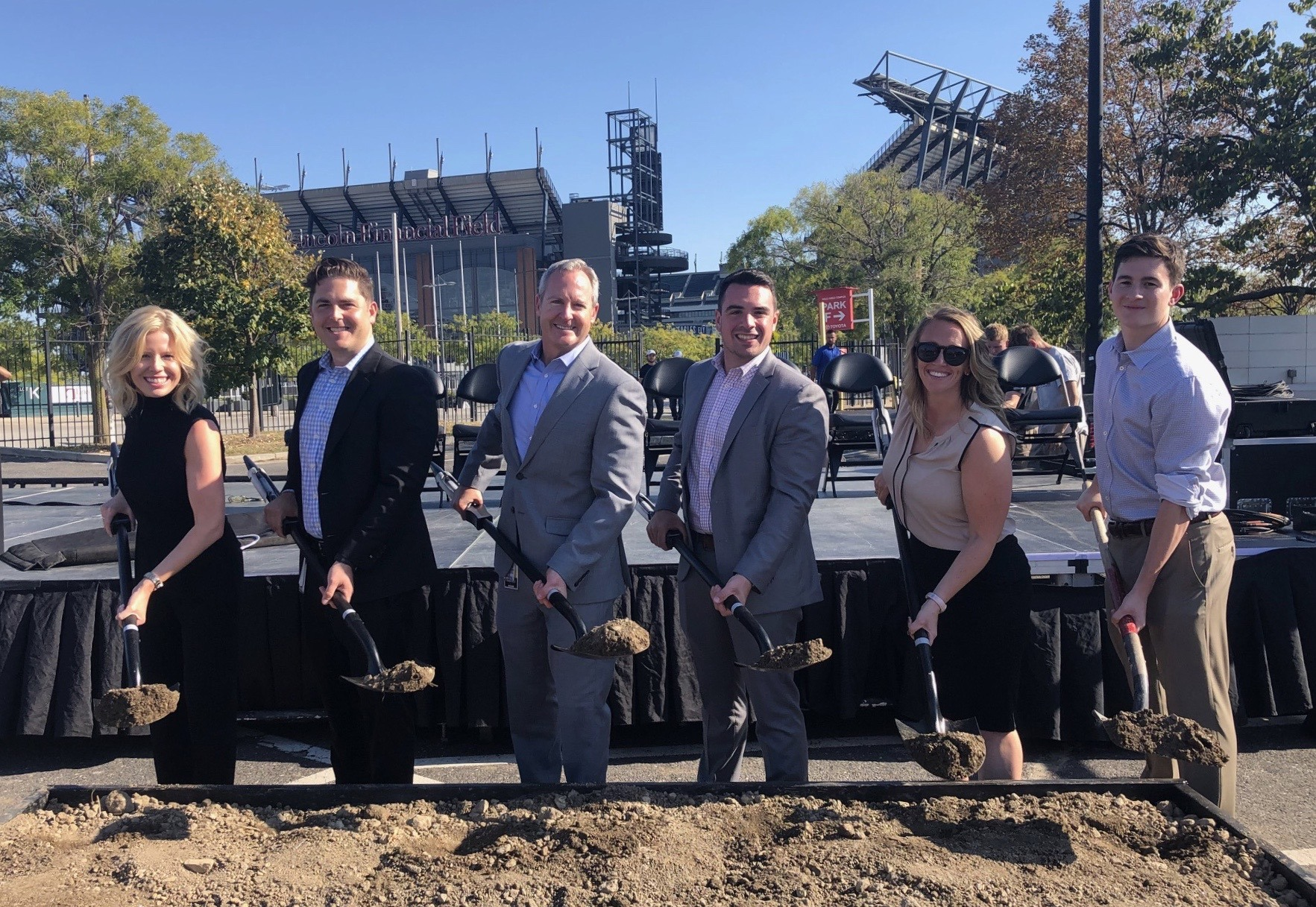 2019 Fusion Arena Groundbreaking Ceremony (KR far left)