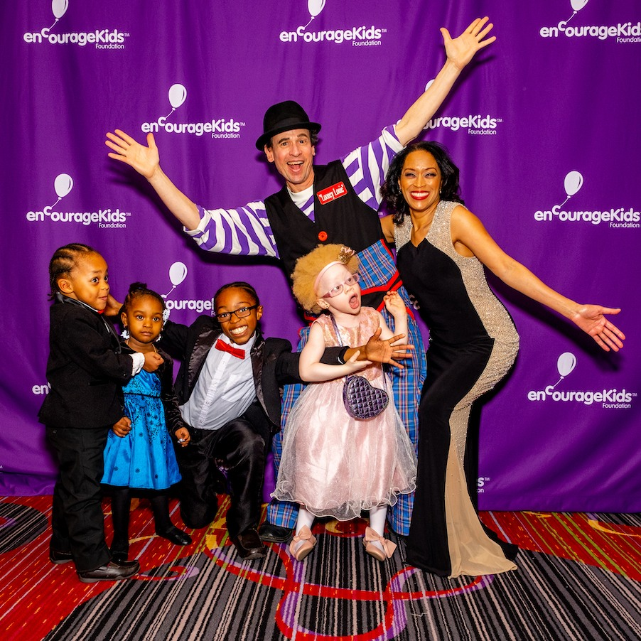 Michele Hall Duncan & Kids Clown Red Carpet